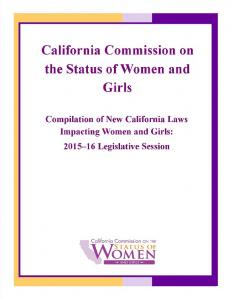 California Commission on the Status of Women and ...