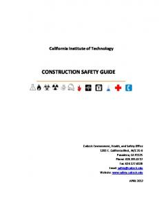 california institute of technology construction safety policy