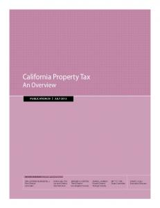 California Property Tax: An Overview