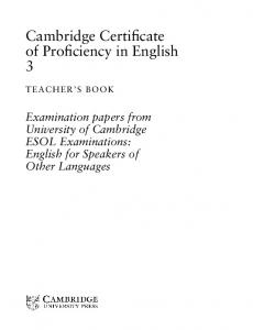 Cambridge Certificate of Proficiency in English 3 - Assets