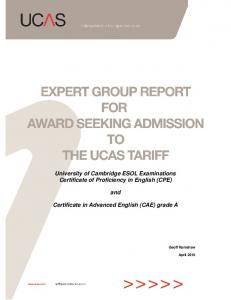Cambridge ESOL report - UCAS