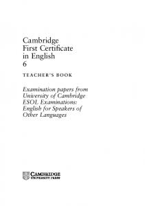 Cambridge First Certificate in English 6 - Assets