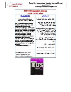 Cambridge International Training Centers (Sudan) IELTS ...