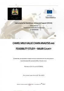 CAMEL MILK VALUE CHAIN ANALYSIS and ...