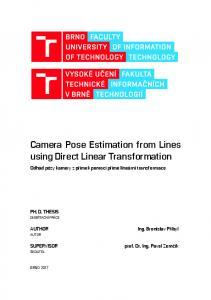 Camera Pose Estimation from Lines using Direct ...