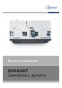 CamGrind L synchro - United Grinding Technologies