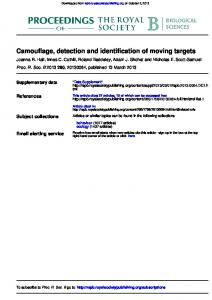 Camouflage, detection and identification of moving ...