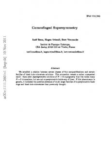 Camouflaged Supersymmetry