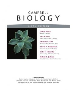 Campbell Biology (Ninth Edition)