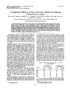 Campylobacter jejuni - Journal of Clinical Microbiology - American ...