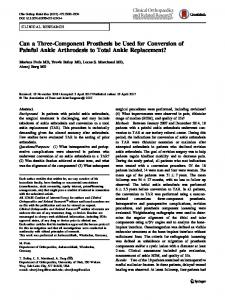 Can a Three-Component Prosthesis be Used for ... - Springer Link