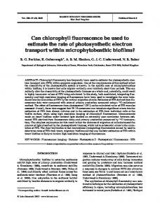 Can chlorophyll fluorescence be used to estimate the rate of ...