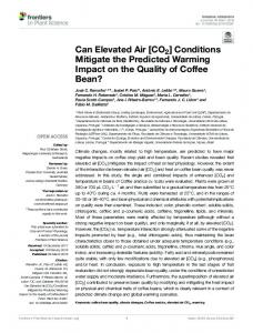 Can Elevated Air [CO2] Conditions Mitigate the ... - Semantic Scholar