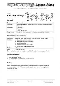 can-for-ability-less.. - ESL KidStuff