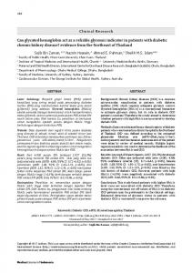 Can glycated hemoglobin act as a reliable