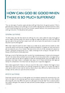 Can God make sense of suffering? - Agape