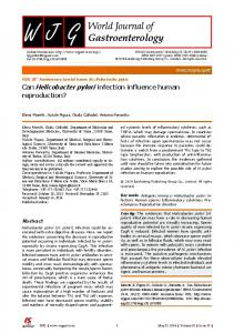 Can Helicobacter pylori infection influence human
