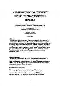 can international tax competition explain corporate ... - CiteSeerX