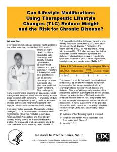 Can Lifestyle Modifications Using Therapeutic Lifestyle Changes ...