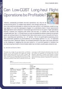 Can low-cost long-haul flight operations be profitable? (PDF ...