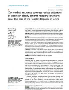 Can medical insurance coverage reduce ... - Semantic Scholar