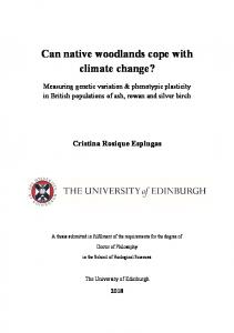 Can native woodlands cope with climate change?