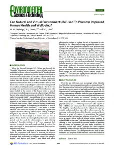 Can Natural and Virtual Environments Be Used To ... - ACS Publications