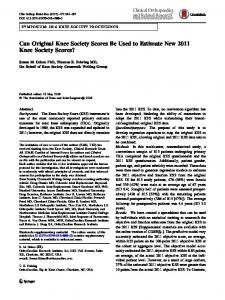 Can Original Knee Society Scores Be Used to Estimate ... - Springer Link