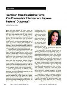 Can Pharmacists' Interventions Improve Patients' Outcomes?