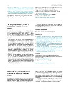 Can positioning alter the success of endotracheal intubation ... - SciELO