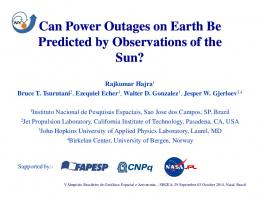 Can Power Outages on Earth Be Predicted by ...