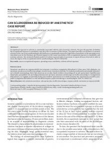 can scleroderma be induced by anesthetics? case ...