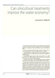 Can silvicultural treatments improve the water economy?