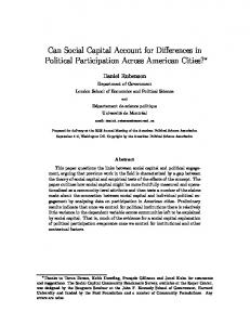 Can Social Capital Account for Differences in Political ... - CiteSeerX