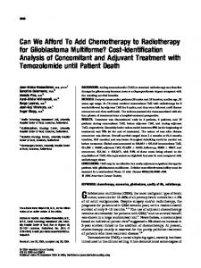 Can we afford to add chemotherapy to ... - Wiley Online Library