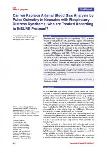 Can we Replace Arterial Blood Gas Analysis by Pulse ...