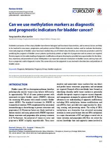 Can we use methylation markers as diagnostic and prognostic