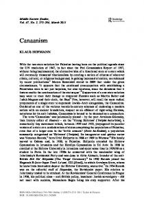 Canaanism - Taylor & Francis Online