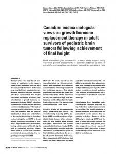 Canadian endocrinologists' views on growth ... - MAGIC Foundation
