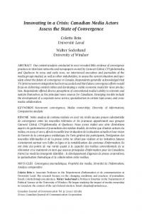 Canadian Media Assess Convergence - Canadian Journal of ...