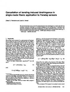 Cancellation of bending-induced birefringence in ... - OSA Publishing