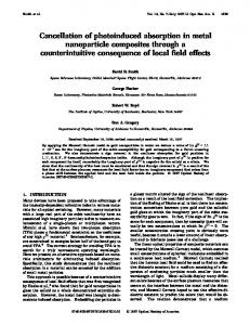 Cancellation of photoinduced absorption in metal nanoparticle ...