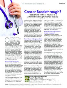 Cancer Breakthrough? - Nature's Glory