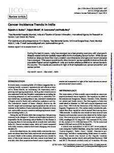 Cancer Incidence Trends in India