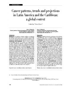 Cancer patterns, trends and projections in Latin America and the ...