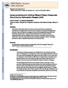 Cancer-promoting and Inhibiting Effects of Dietary Compounds: Role ...