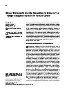 Cancer proteomics and its application to ... - Wiley Online Library