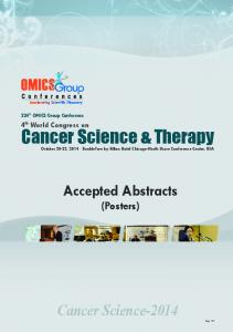 Cancer Science & Therapy - OMICS International