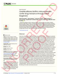 Candida albicans biofilm#_#x2013;induced vesicles confer ... - Plos