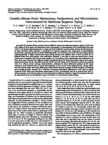 Candida albicans - Journal of Clinical Microbiology - American Society ...